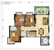 海南近海湾3室2厅2卫100平方米户型图