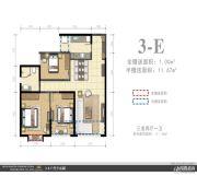 外滩名著3室2厅1卫0平方米户型图