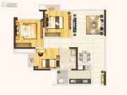佳年华广场3室2厅1卫80平方米户型图