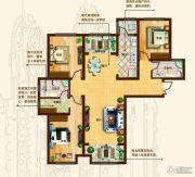 奥北公元3室2厅2卫140平方米户型图