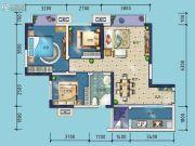 金科东方雅郡3室2厅1卫84平方米户型图