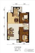 新加坡城2室2厅1卫86平方米户型图
