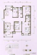 东方太阳城3室2厅1卫125平方米户型图