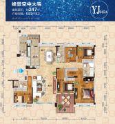 碧桂园5室2厅3卫247平方米户型图