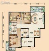 鸿发・东门华府3室2厅2卫117平方米户型图