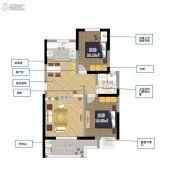 翔盛・春天大道2室2厅1卫61平方米户型图