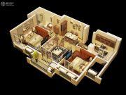 金丽园3室1厅1卫82平方米户型图