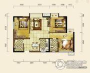 双发东城印象3室2厅2卫88平方米户型图