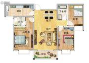 华美国际3室2厅2卫123平方米户型图