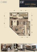 杭州印2室2厅3卫250平方米户型图