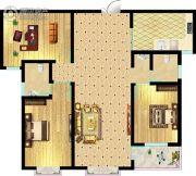 东方明珠3室2厅2卫134平方米户型图
