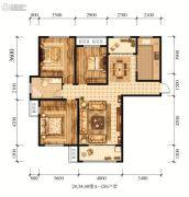 江山花园3室2厅1卫126平方米户型图