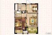 兰陵锦轩1室2厅1卫58平方米户型图