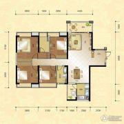 正升华府4室2厅1卫170--175平方米户型图