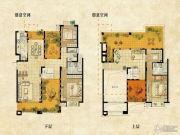 达安上品花园3室3厅3卫206平方米户型图
