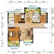 清江润城・悦邸(四期)2室2厅1卫97平方米户型图