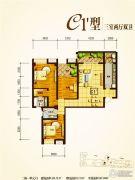 兴业新城3室2厅2卫138--147平方米户型图