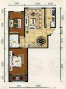 凯新华庭2室2厅1卫108平方米户型图