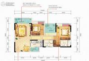 佳兆业滨江新城3室2厅2卫84平方米户型图