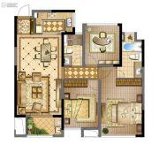 蓝光天悦城3室2厅2卫100平方米户型图
