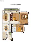 碧桂园豪进左岸3室2厅1卫93平方米户型图