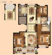 金麟府3室2厅2卫124平方米户型图