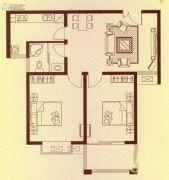 水岸华府2室2厅1卫89平方米户型图