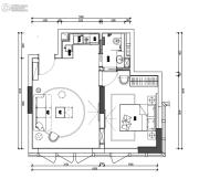 翰林尚品1室1厅1卫51平方米户型图