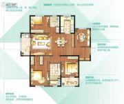 朗诗太湖绿郡4室2厅2卫150平方米户型图