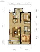 万科城市阳光2室2厅1卫90平方米户型图