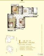 中央公园城2室2厅2卫95平方米户型图