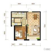 苏宁绿谷庄园1室2厅1卫59--63平方米户型图