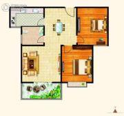 西城旺角2室2厅1卫84平方米户型图