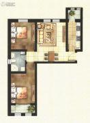 东方国际城2室2厅1卫77平方米户型图
