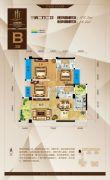 金海国际3室2厅2卫108平方米户型图