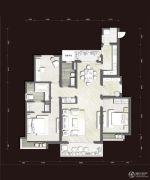 富力十号3室2厅2卫130平方米户型图
