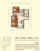 迎宾花园3室2厅2卫127平方米户型图