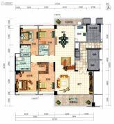 顺德华侨城・天鹅湖4室2厅3卫221平方米户型图