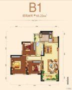 邦泰・铂仕公馆3室2厅1卫83平方米户型图