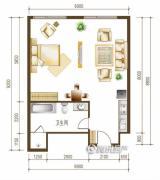 勒泰中心1室1厅1卫0平方米户型图