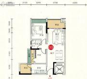 胜坚・尚城美居2室2厅1卫78--79平方米户型图