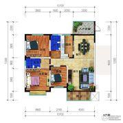 锦绣花园3室2厅2卫126平方米户型图
