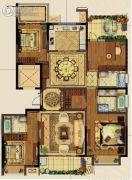 义乌新城吾悦广场4室2厅3卫0平方米户型图