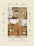 吉林昌邑万达广场2室1厅1卫60--65平方米户型图