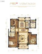 文鼎苑3室22厅0卫125平方米户型图