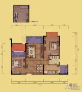 融创嘉德领馆3室2厅1卫62平方米户型图