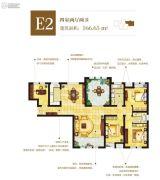 东方星城4室2厅2卫166平方米户型图