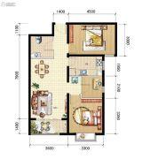 山海城邦・马街摩尔城3室2厅1卫88平方米户型图