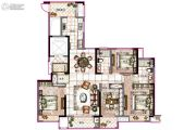 海曙金茂悦4室2厅2卫139平方米户型图
