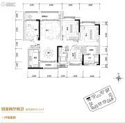 葛洲坝广州紫郡府4室2厅2卫144平方米户型图
